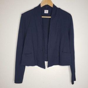 Cabi Navy Blue Jersey Knit Cardigan Sweater